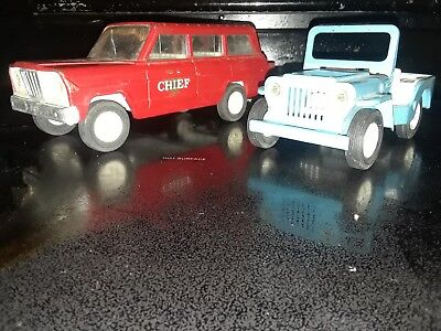 Vintage Tonka Red Jeep Truck, & Blue Jeep  from Canada