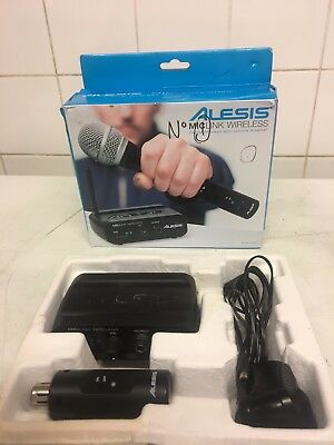 Alesis Miclink Wireless Digital Microphone Adapter Transmitter & Receiver