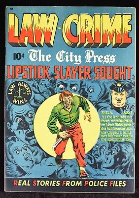 1948 Law Against Crime #3 LB Cole Cover FN+ Seduction Of The Innocent Comic Book