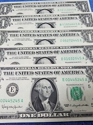 1963$1 Federal Reserve Note ( From All 12 Of The Mints Unc)1Or A Thru 12 Thru L
