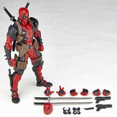 New in box Kaiyodo Revoltech Amazing Yamaguchi Deadpool Action Figure X-men Toy