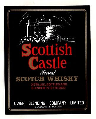 Scottish Castle Scotch Whisky label - Tower Blending Co. Glasgow see scan
