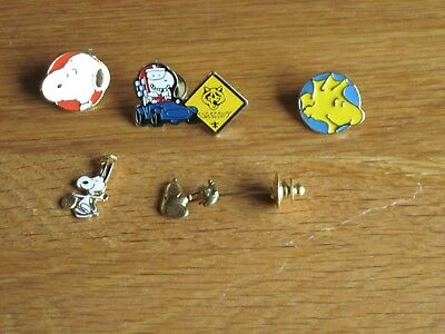 Snoopy / Peanuts Lot Of 5 Pins And Charm
