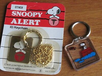 Snoopy / Peanuts Lot Of 2 Key Chaines