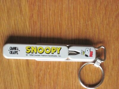 "Snoopy / Peanuts Key Chain From Japan 4"" Long Point On End"
