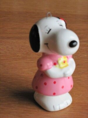 "Snoopy / Peanuts Ceramic Ornament Belle 3"" Tall"
