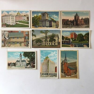 Bulk Lot of 10 Unposted Postcards Massachusetts