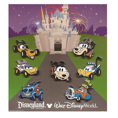 Disney Parks Character Cars Booster Set Pins Pack