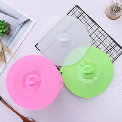 Silicone Boil Over Spill Lid Preservations Pan Covers Oven Safe Stopper Pot Lids