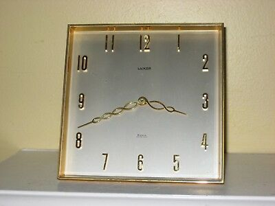LUXOR Clock 8 Day Swiss Made Modernist Art Deco Desk Clock 6""