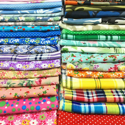 Cotton Fabric Polyester Floral Prints Cloth Sewing Quilting Cloth By the Yard