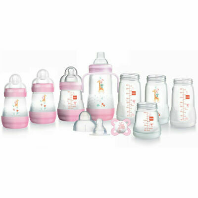MAM Learn to Drink Cup Pink 190ml with Handles /& Soother│Removable Valve│190ml│