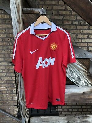 Official Nike Manchester United Football/Soccer Club Jersey - Size L Free Ship