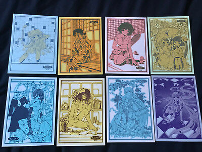 Chobits Postcard set of 8 official CLAMP