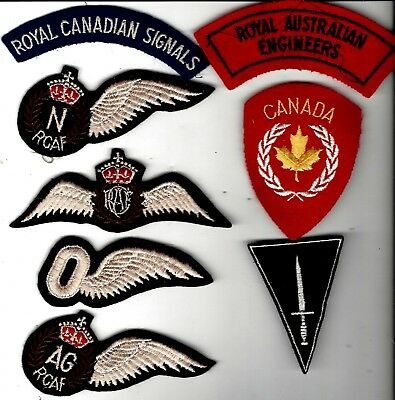 WW2 /Koerean War patches (8) British and Canada. Mix of Foreign and US mades.