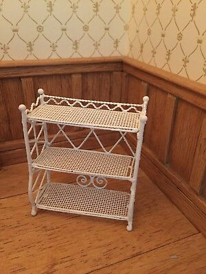 1 12th scale  WIre Display Stand White DOLLSHOUSE Small