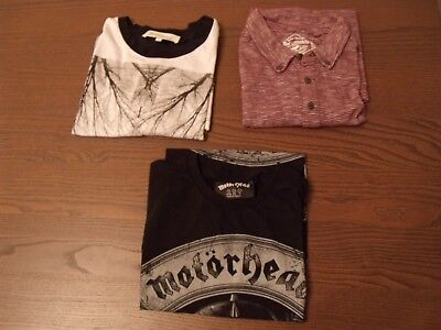 Job lot of 3 men's T-Shirts - size S - River Island, Red Herring +1