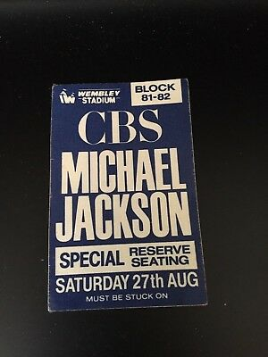 Michael Jackson _RARE 1988 CBS Special Reserve Seating