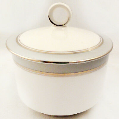 HOWARD GREY PLATINUM Royal Worcester Covered Sugar Bowl NEW NEVER USED England