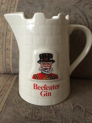 Vintage Beefeater Gin Bar Pitcher Made In England 6x6 Nice Cond