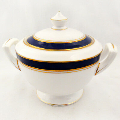 "HOWARD COBALT Royal Worcester Covered Sugar Bowl 4"" tall NEW NEVER USED England"