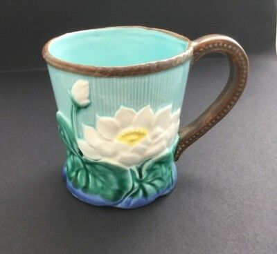 Takahashi Hand Painted Detailed Pottery Water Lilly Pottery Mug
