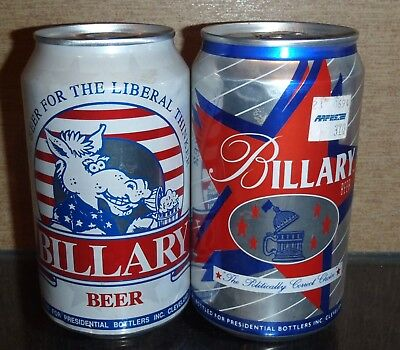 2 Different Billary Pull Tab Beer Cans 1 From Pa,1 From Mn Bottom Opened