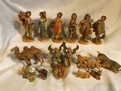 Lot of 20 Vtg Fontanini Depose Figurines Made in Italy 1980's-1990's Spider Mark
