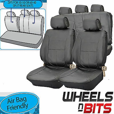 FRONT LEATHER LOOK PAIR CAR SEAT COVER SET MITSUBISHI FTO 94-00