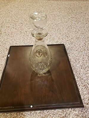 Vintage glass whiskey decanter