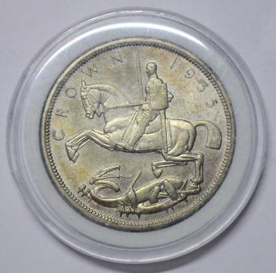 Great Britain Uk Crown 1935 George V Large Silver Coin Thaler Size