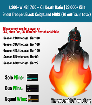 🔥Fortnite Account TOSS-UP, Ghoul Trooper, Black Knight+MORE, Xbox One/PS4/PC🔥