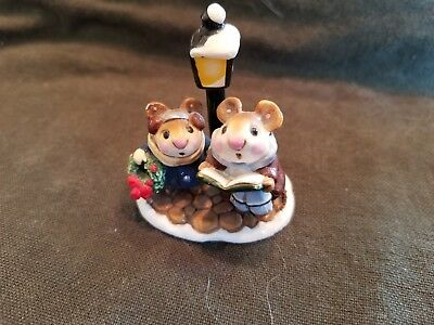 Wee Forest Folk M86 Lamplight Carolers Mice WFF SINGING song Christmas