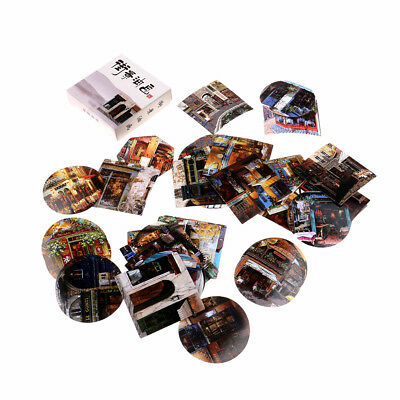 40x streetscape painting paper sticker diy diary decor for album scrapbooking—QY
