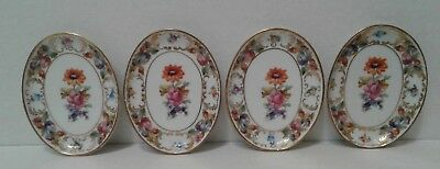 Small Vintage Bavraria Dresdener Art Schumann Oval Dish Lot of 4