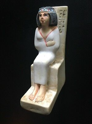 "Egyptian Replica 4"" Statue of Noblewoman Nofret • Made in Egypt • FREE SHIPPING!"