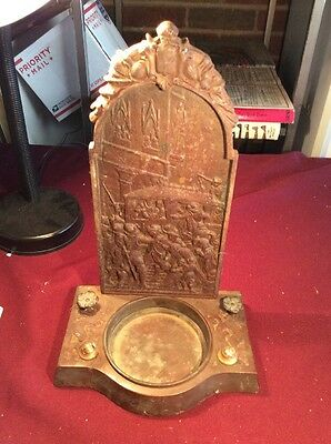 Antique Rembrandt Cast Iron Holy Water Architectural Piece