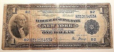 1914 $1 Federal Reserve Bank of New York large note