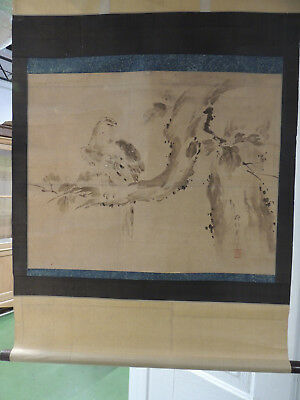 Rare!!!, Antique Chinese Scroll,  Laid On Silk,  Absolutely Original, Signed!!