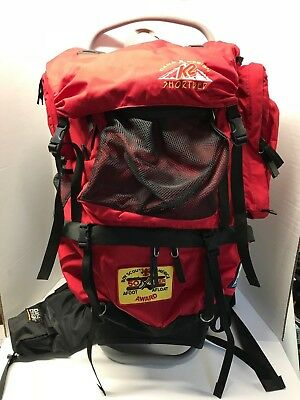 K2 Shortbed Dana Design Hiking Backpack External Frame Padded Boy Scout Patches