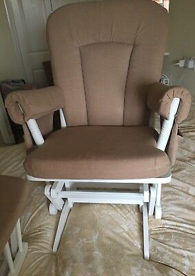Dutailier Natural Nursing Gliding Maternity Chair & foot stool GREAT condition