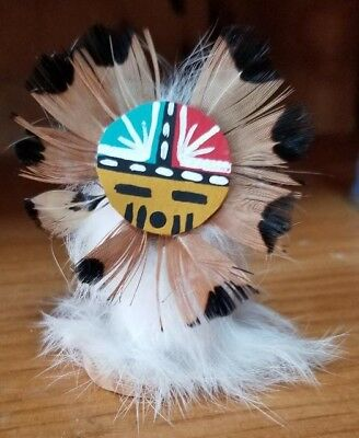Native American Mini Sun Face Kachina Doll Arizona Navajo