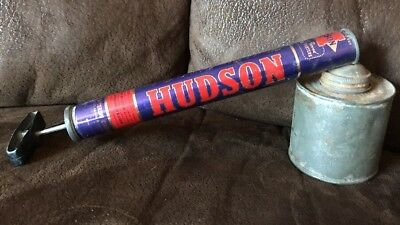 Hudson Bug Sprayer old fashioned push handle duster USA 1950's vintage 1955