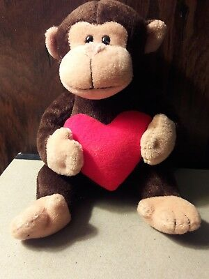 Ty Beanie Babies (D'Vine)) The Monkey with the Red Valentine's Heart.(2008)
