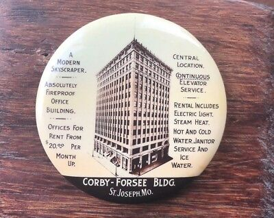 Corby - Forsee Bldg. Paperweight Mirror