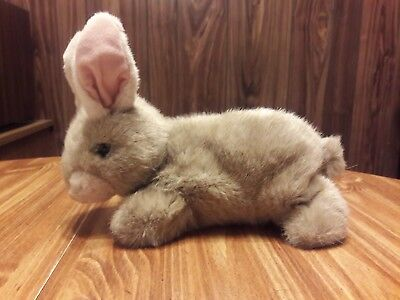 TY Beanie Babies, (1997), Bunny Rabbit, Light Brown with Pink Ears & A Pink Nose