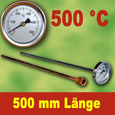 Backofenthermometer Oven Thermometer Thermometer 500°C with Dip Tube 500 Mm