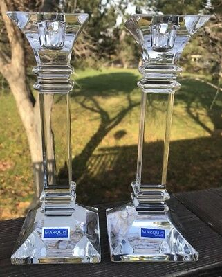 Waterford Marquis Treviso 8 Inch Candleholders Pair
