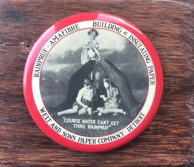 Welt and Sons Paper Company Paperweight Mirror