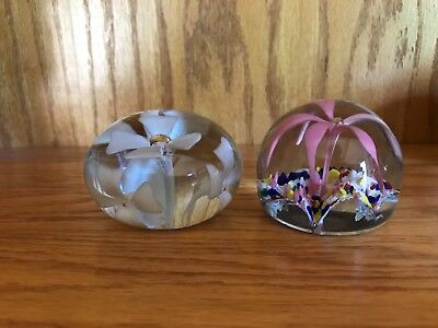 Antique Paperweight- set of 2